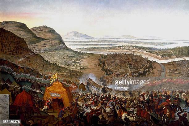 The Battle of Kahlenberg at the Second Siege of Vienna painting by Frans Geffels 184 x 272 cms Vienna Historisches Museum der Stadt