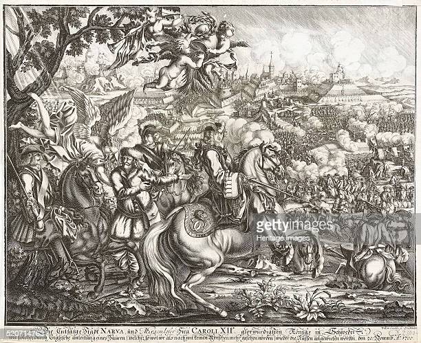 The Battle of Narva on 19 November 1700 Private Collection