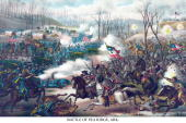 The Battle of Pea Ridge was a land battle of the American Civil War fought on March 7 and March 8 at Pea Ridge in northwest Arkansas near Bentonville...