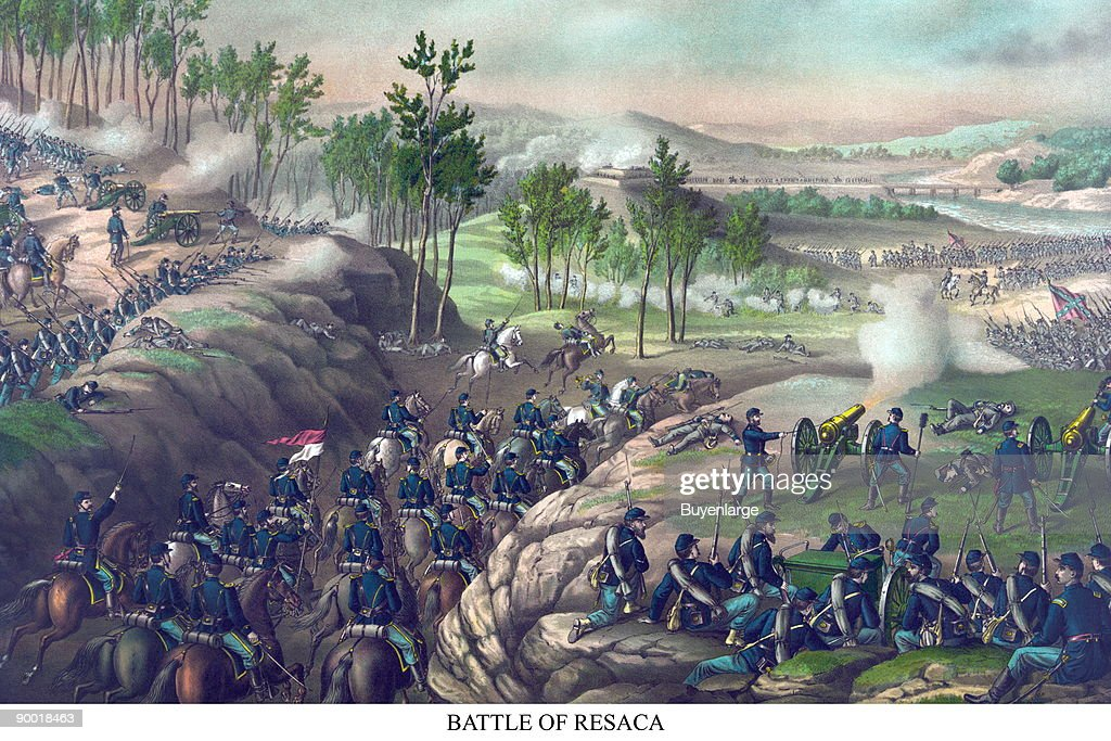 The Battle of Resaca was part of the Atlanta Campaign of the American Civil War. The battle was waged in Gordon and Whitfield counties Georgia from May 13 to May 15, 1864. It ended inconclusively. The battle was fought between the Military Division of the Mississippi (led by William T. Sherman) on the side of the Union and the Army of Tennessee (Joseph E. Johnston) for the Confederates. There were 5,547 casualties: 2,747 for the Union and 2,800 for the Confederacy. The battle was fought between the Military Division of the Mississippi (led by William T. Sherman) on the side of the Union and the Army of Tennessee (Joseph E. Johnston) for the Confederates. There were 5,547 casualties: 2,747 for the Union and 2,800 for the Confederacy.