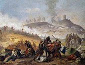 The Battle of Solferino June 24 an unknown painter of the second half of 19th century oil on canvas Second Italian War of Independence Italy 19th...