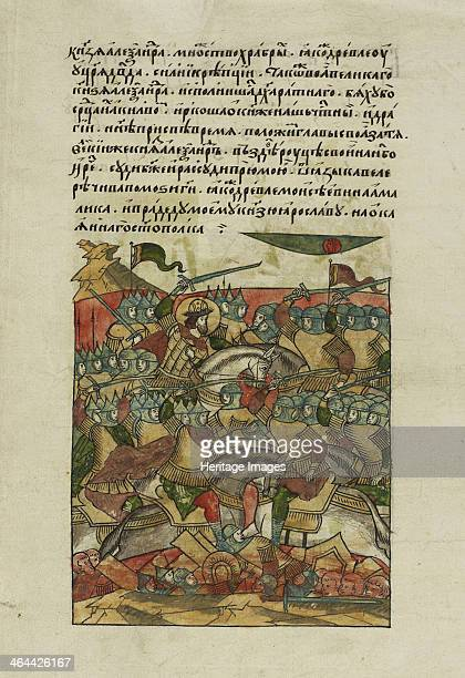The Battle of the Ice on April 5 1242 at Lake Peipus ca 15681576 Found in the collection of the Russian National Library St Petersburg