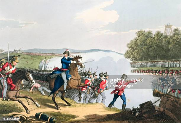 The Battle of Waterloo Decided by the Duke of Wellington' 1815 From Historic Military and Naval Anecdotes published by Edward Orme 1816 Artist...