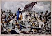 The Battle of Waterloo on 18th Juny 1815 1816 Found in the collection of the A Pushkin Memorial Museum St Petersburg