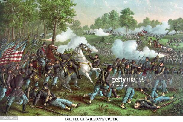 The Battle of Wilson's Creek also known as the Battle of Oak Hills was fought on August 10 near Springfield Missouri between Union forces and the...