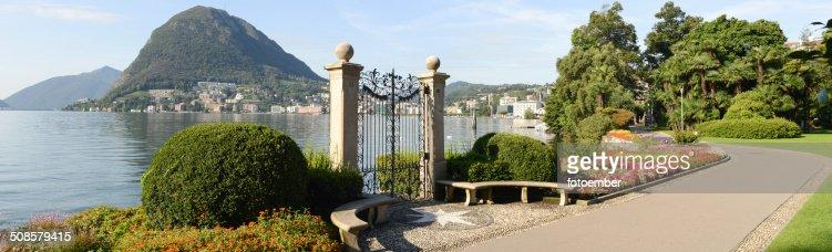 Die Bucht von lake Lugano : Stock-Foto