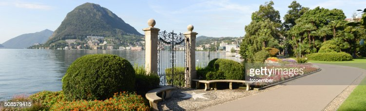 The bay of lake Lugano : Stockfoto