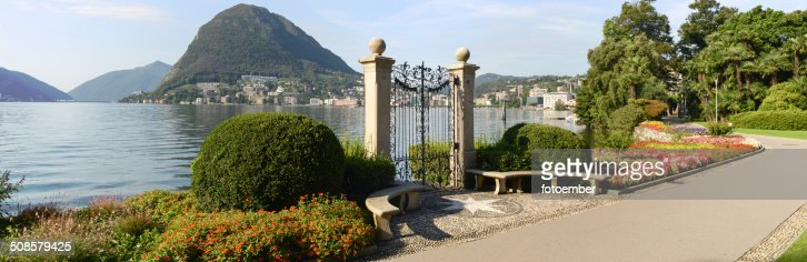 The bay of lake Lugano : Stockfoto