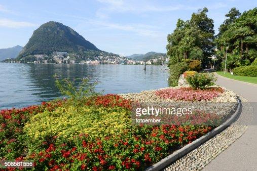 La baia del Lago di Lugano : Foto stock