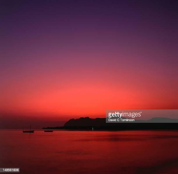The Bay of Pollensa at dawn.