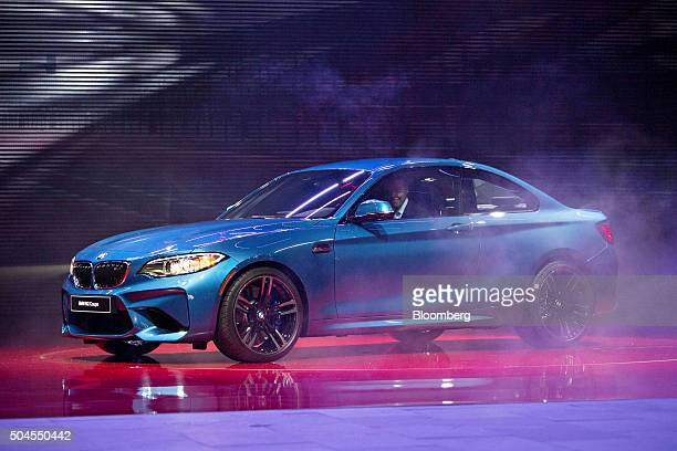 The Bayerische Motoren Werke AG 2016 M2 highperformance coupe vehicle is debuted at the 2016 North American International Auto Show in Detroit...