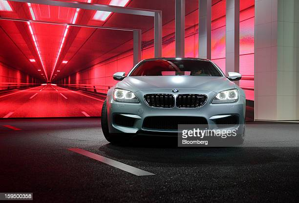 The Bayerische Motoren Werke AG M6 Gran Coupe is unveiled during the 2013 North American International Auto Show in Detroit Michigan US on Monday Jan...