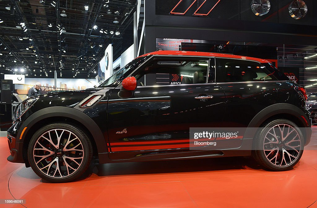 The Bayerische Motoren Werke AG (BMW) Mini John Cooper Works Paceman vehicle is displayed during the 2013 North American International Auto Show (NAIAS) in Detroit, Michigan, U.S., on Tuesday, Jan. 15, 2013. The Detroit auto show runs through Jan. 27 and will display over 500 vehicles, representing the most innovative designs in the world. Photographer: David Paul Morris/Bloomberg via Getty Images