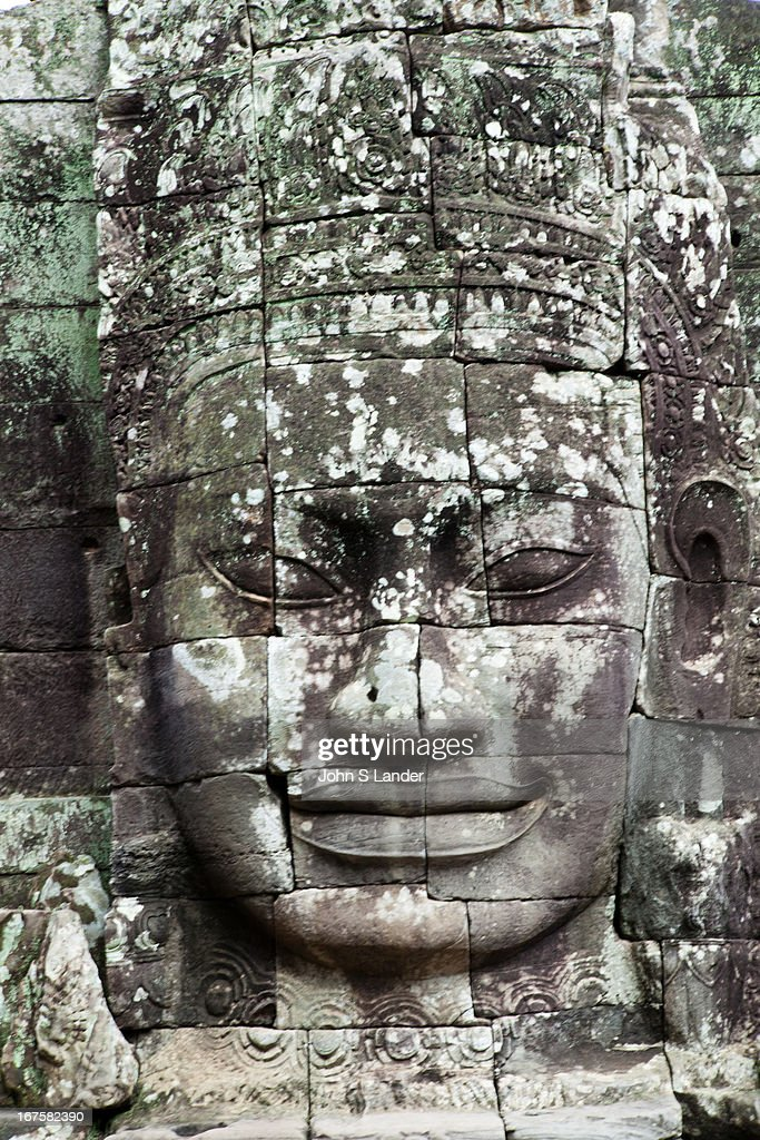 The Bayon or Prasat Bayon is a richly decorated Khmer temple at Angkor in Cambodia Built in the late 12th century century as the official state...