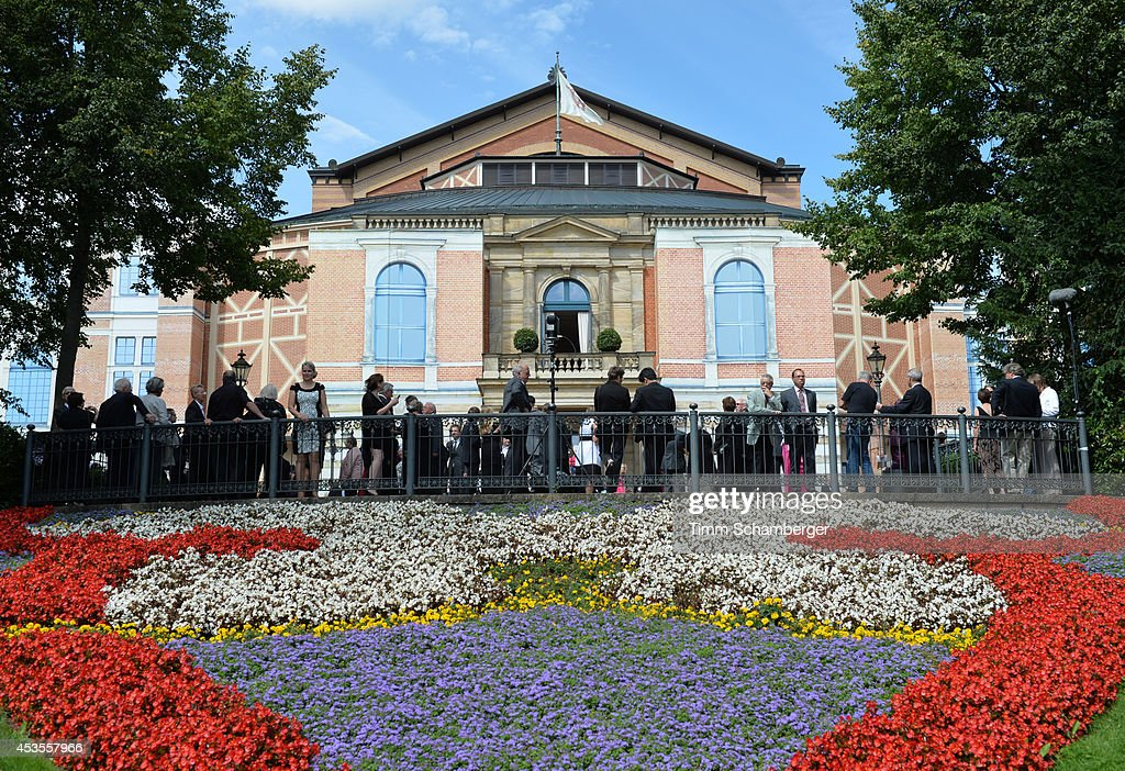 The Bayreuth Festival Theatre is pictured on August 12 2014 in Bayreuth Germany