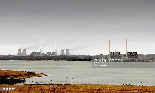 The Bayswater Power Station and Liddell Power Station are seen February 14 2006 in Muswellbrook Australia The Muswellbrook area provides a huge...