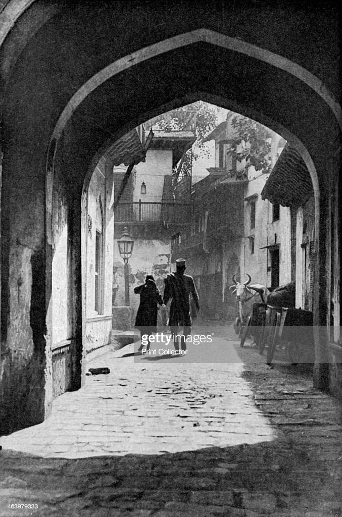 The bazaar of Lucknow India c1930s A print from Countries of the World edited by JA Hammerton volume IV The Fleetway House c1930s