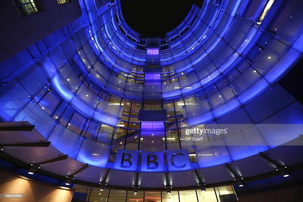 The BBC headquarters at New Broadcasting House is illuminated at night on November 13, 2012 in London, England. Tim Davie has been appointed the acting Director General of the BBC following the resignation of George Entwistle after the broadcasting of an episode of the current affairs programme 'Newsnight' on child abuse allegations which contained errors.