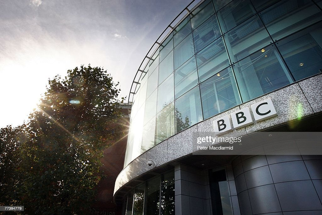 The BBC logo is displayed above the main entrance to Television Centre on October 18, 2007 in London. In order to make ?2 billion of savings the BBC will sell off it's famous television studios, make up to 1800 staff redundant and cut back on programme making.
