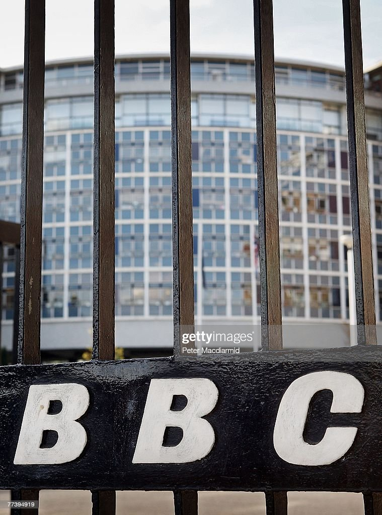 The BBC logo is displayed on entrance gates to Television Centre on October 18, 2007 in London. In order to make ?2 billion of savings the BBC will sell off it's famous television studios, make up to 1800 staff redundant and cut back on programme making.