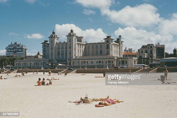 The beach and casino at Montevideo Uruguay April 1960