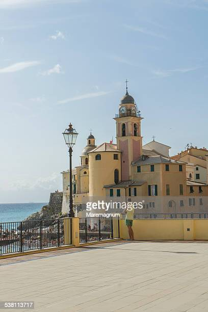 The beach and Santa Maria Assunta Basilica