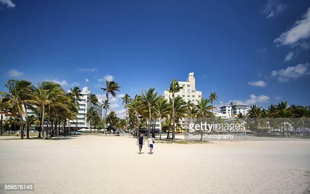 The beach at South Beach, Miami