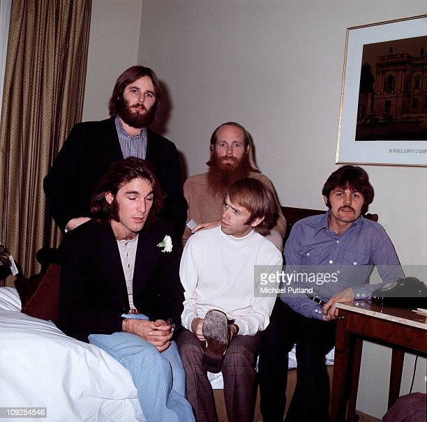 The Beach Boys group portrait London December 1970 LR Dennis Wilson Carl Wilson Mike Love Al Jardine Bruce Johnston