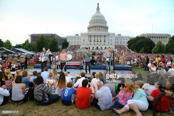 The Beach Boys perform at A Capitol Fourth at US Capitol West Lawn on July 4 2017 in Washington DC