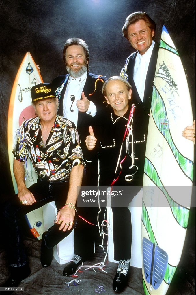 LOS ANGELES - The Beach Boys (L-R Mike Love, Carl Wilson, Al Jardine and Bruce Johnston) pose for an exclusive photo session during the TV taping of Dick Clark's New Year's Rockin' Eve on November 7, 1990 at Universal City in Los Angeles, California.
