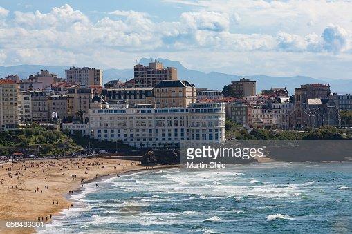 The beach in Biarritz