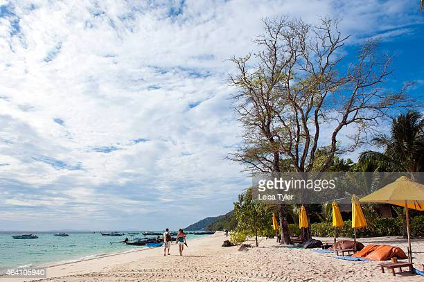 The beach in front of Zeavola Resort on Ko Phi Phi Don the largest island of the Phi Phi group Made famous year 2000 film The Beach Ko Phi Phi was...