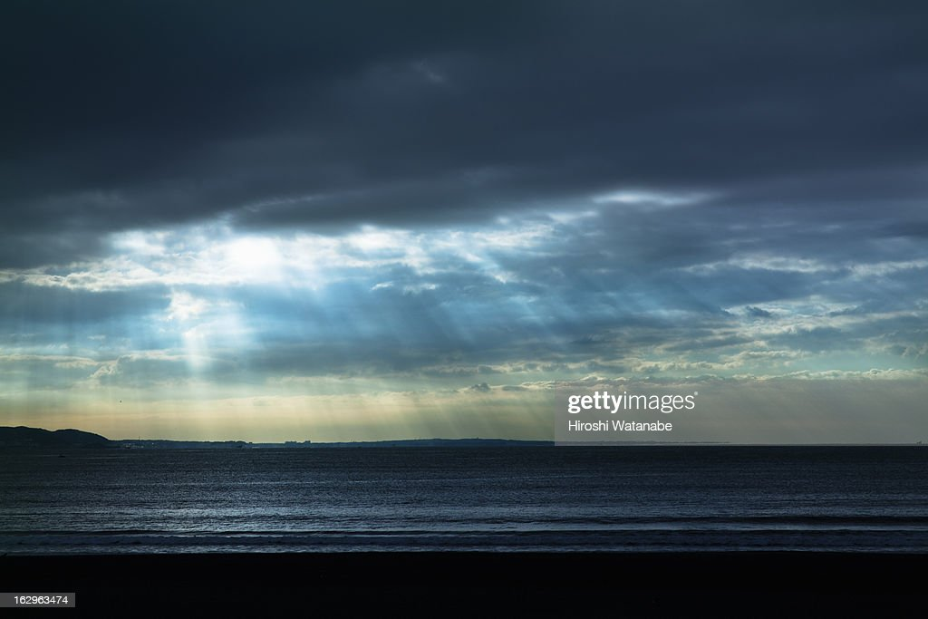 The beach in the morning : Stock Photo