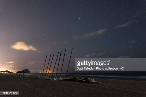 The beach in the night : Stock Photo