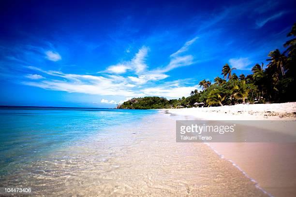 The beach of Mana island