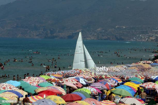 The beach of Oran West of Algiers on 5 August 2017