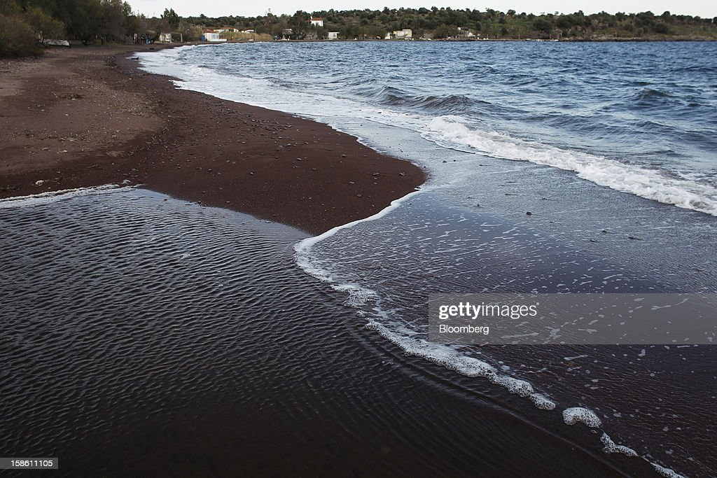 The beach of Tsiona, used by immigrants to land after travelling between Turkey and Greece, is seen on the northern part of the island of Lesbos, Greece, on Saturday, Dec. 8, 2012. In recent months, Lesbos has become a hot spot for migrants as Greece struggles to cope with waves of refugees from Middle Eastern conflict even as it reels from economic crisis at home. Photographer: Kostas Tsironis/Bloomberg via Getty Images