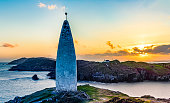 This landmark is widely seen and shows the incoming boats the entrance to the safe harbour of Baltimore, West Cork, Ireland.