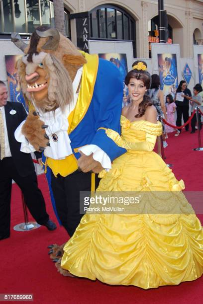 The Beast and Princess Belle attend WALT DISNEY STUDIOS HOME ENTERTAINMENT HOSTS A SINGALONG PREMIERE OF BEAUTY AND THE BEAST at El Capitan Theatre...