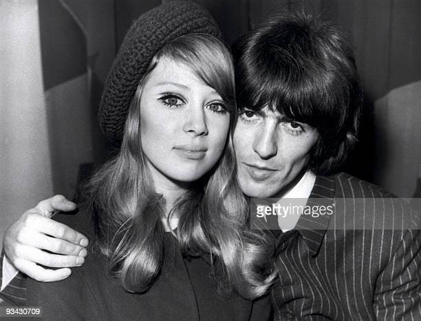 The 'Beatle' George Harrison and his young wife Patti Boyd pose 22 June 1966 in an unidentified place AFP PHOTO