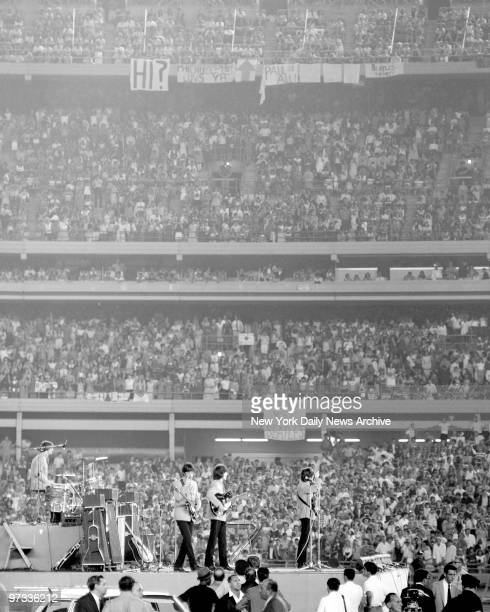 The Beatles at Shea Stadium Our Mets have displayed their antic behavior before some good crowds at Shea Stadium but last night's turnaway mob of...