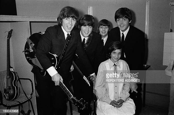The Beatles before their concert at the Palais D'Hiver on June 30 1965 in Lyon France
