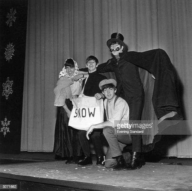 The Beatles dress up for the Beatles Christmas Show at the Astoria Cinema Finsbury Park London New Years Eve 31st December 1963