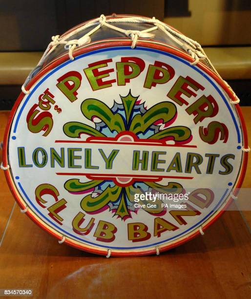 The Beatles drumskin which appeared in the LP cover of Sgt Pepper's Lonely Hearts Club Band It is expected to fetch between 100000150000 when it goes...