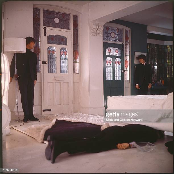 The Beatles filming 'Help' at Twickenham studios London April 1965 John Lennon Paul McCartney George Harrison