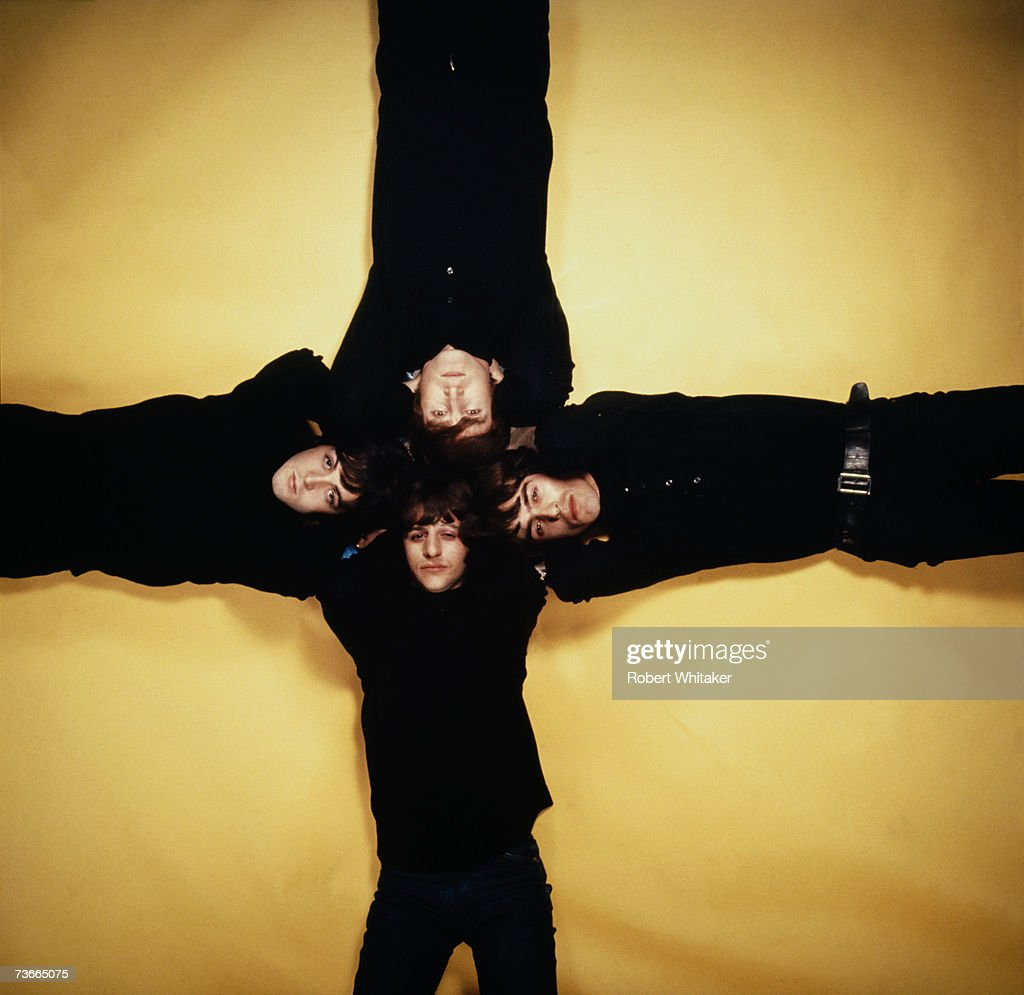 The Beatles (clockwise from top) John Lennon (1940 - 1980), George Harrison (1943 - 2001), Ringo Starr and Paul McCartney, December 1965.
