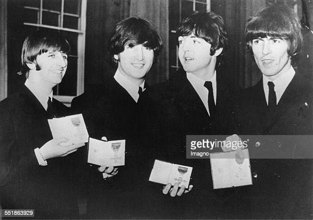The Beatles just have been knighted Great Britain Photograph 1965