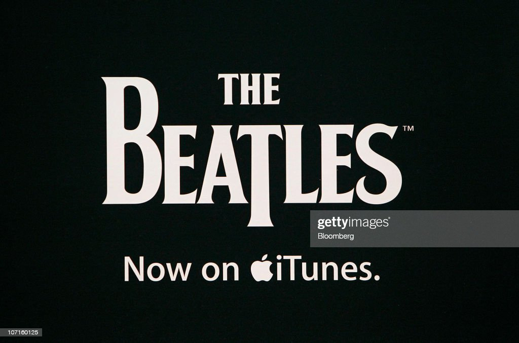 The Beatles on iTunes is displayed at a Best Buy store in Houston, Texas, U.S., on Friday, Nov. 26, 2010. Shoppers on Black Friday, the biggest shopping day of the year, are taking advantage of deals as they face down a slower economic recovery than projected. Photographer: Aaron M. Sprecher/Bloomberg via Getty Images