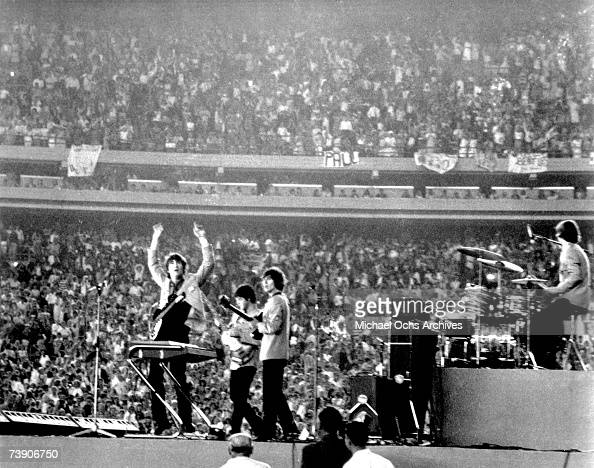 The Beatles perform at Shea Stadium New York on 15th August 1965