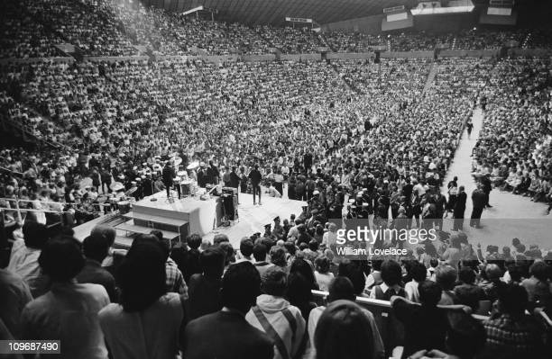 The Beatles perform at the Seattle Centre Coliseum in Seattle Washington during their US tour 24th August 1964